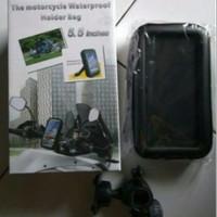 Jual Bracket Motor Waterproof HP GPS Holder Bag Motorcycle Gojek Grab Uber Murah