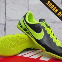 ready stok Sepatu Futsal Anak-Nike Tiempo ACC Hitam Hijau Anak ori