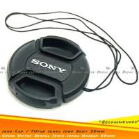 Lens Cap Tutup Penutup Lensa Kamera 55mm Dengan Logo Sony