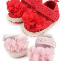 PW68 - prewalker bunga tali samping sepatu shoes anak bayi baby