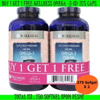 harga *buy 1 Get 1*  Wellness Omega 3 Fish Oil 1000 Mg 375 Sofgelt X 2 Bpom Tokopedia.com