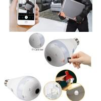 Jual 1080P Wireless IP Camera Bulb Light FishEye Smart Home CCTV 360 VR Murah