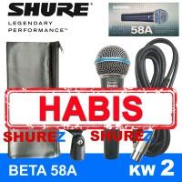 SHURE BETA 58A KW2 MIK/MIC/MIKROFON/MICROPHONE KABEL 58/58 A