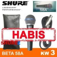 SHURE BETA 58A KW3 MIK/MIC/MIKROFON/MICROPHONE KABEL 58/58 A