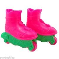 Pink Roller Skates Blades Sports 1/6 Barbie Doll's House Dollhouse Min