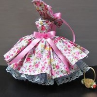 Vintage style Party Costume for Barbie, Doll Clothing Dress Handmade O