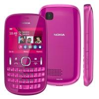 Nokia Asha 200 Pink - Dual Sim QWERTY GOOD QUALITY