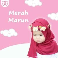 Jilbab Hijab Anak Pashmina Instan Merah Marun - Reseller