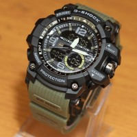 JAM TANGAN PRIA WATER RESIST CASIO G SHOCK THE DOCTOR STRAP GREEN ARMY