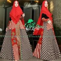 dhavida by be glow gamis batik syari modern anggun