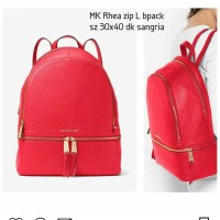 MK RHEA ZIP L BPACK DK SANGRIA