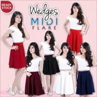 Wedges Midi Flare Skirt by Bandage Fever