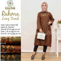 Baju Atasan Wanita Muslim Blouse Batik Rahma Long Tunik