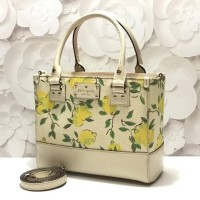 Tas Kate Spade Original / Katespade Quinn Quin Wellesley Lemon Fabric