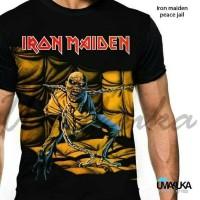 Kaos Pria Full print Umakuka - Iron maiden peace jail