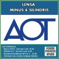 Jual Lensa Aot Sph s-d -12.00 C S-d -4.00 Murah