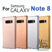 samsung note 8 silicone anti crack case with soft color note8