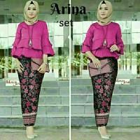 harga Baju Muslim / Kebaya Batik Modern / Gamis Remaja Cdx Arina Set Fanta Tokopedia.com