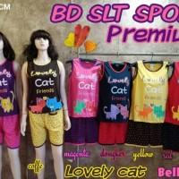 BELLA PLUS BABYDOLL BD BAJU TIDUR SLT SPORT PREMIUM LOVELY CAT