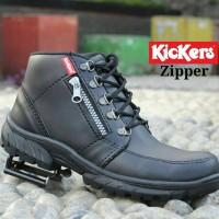 Sepatu Boots Safety Casual Pria Kickers Zipper Tracking Kulit Swedia 9b4e0d9294