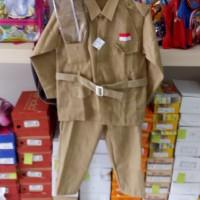 kostum anak pejuang setelan bung tomo murah surabaya ukuran 4 5 6