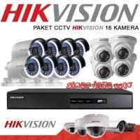 PAKET CCTV HIKVISION 16CHANEL 2MP HD(KOMPLIT TNGGAL PASANG)