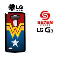 Casing HP LG G3 Wonder Woman logo Custom Hardcase