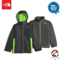 Jaket The North Face Boys Vortex Triclimate Grey ORIGINAL Inner n Outr