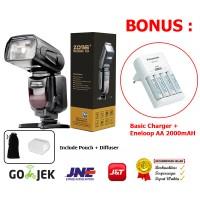 Sale !!! Zomei Flash ZM-430 for Canon-Nikon-Sony-Fujifilm- Free Eneloo