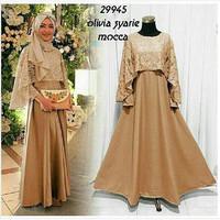 Jual RSP - Olivia syarie baju pesta cantik dress cape maxi murah muslimah  Murah