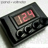 SAKLAR SWITCH TOGLE KOTAK PANEL 4 CHANNEL LAMPU VOLTMETER MOTOR MOBIL