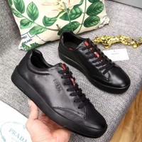 Jual sepatu sneaker kulit branded pria cowok prada mirorr quality