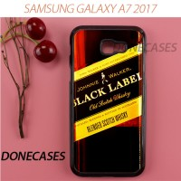 Casing Samsung A7 2017 Johnnie Walker Black Label Sticker Hard Case C