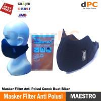Masker Filter Anti Polusi Cocok Buat Biker- Black