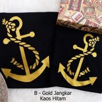Jual kaos gold jangkar terfav bisa req desain dan nama favorit berukuran Murah