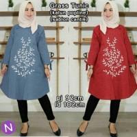 61121 graas tunic/baju tunik/atasan muslim wanita murah/baju grosiran