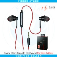 Xiaomi 1More Piston In-Ear Earphones  (The Voice Edition) - Black Red