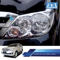 harga Toyota Fortuner 2008-2010 Garnish Lampu Depan/head Lamp Garnish Chrome Tokopedia.com