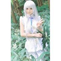 Costume Menma Import Taobao Anohana cosplay anime white dress