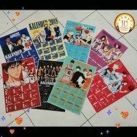 kalender poster kuroko no basket and haikyuu