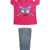 Cc4/ce4-1710 Macbee Kids Baju Anak Setelan Butterfly Dreams