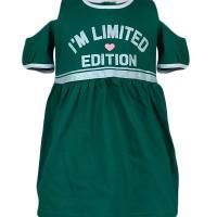 Cn5/cn6-1710 Macbee Kids Baju Anak Dress I'm Limited Green