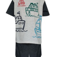 Ac3/ Ac5-1710 Macbear Kids Baju Anak Setelan Rainbow Ship