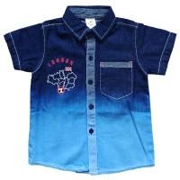 Aq6/as1-1710 Macbear Kids Baju Anak Kemeja Cool Denim London Soccer