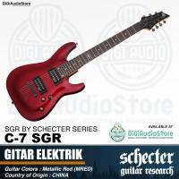 Gitar Listrik Elektrik C-7 SGR by Schecter Metallic Red (MRED) Guitar