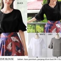 Jual Fashion Wanita Murah Frill sleeve blouse Keren Hitz Murah