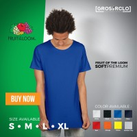 Kaos Polos Fruit Of The Loom Soft Premium Murah Original Jakarta