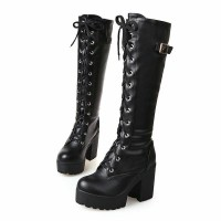 sepatu boots kulit untuk musim dingin winter lapis bulu