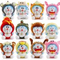 Jual Exclusive Boneka rekam karakter doraemon zodiac shio doll toy recorde Murah