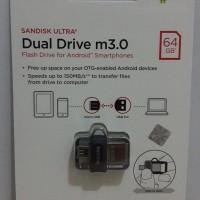 SALE SanDisk Ultra Dual Drive M3 0 64GB USB 3 0 OTG Flash Drive NEW